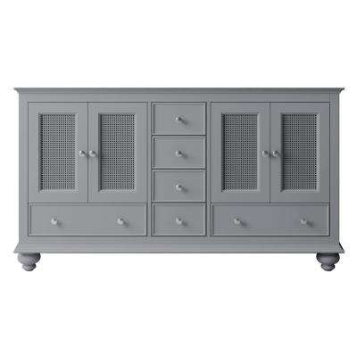Aerin 57.8 in. W x 20.94 in. D x 32.68 in. H Bath Vanity Cabinet Only in Taupe Grey
