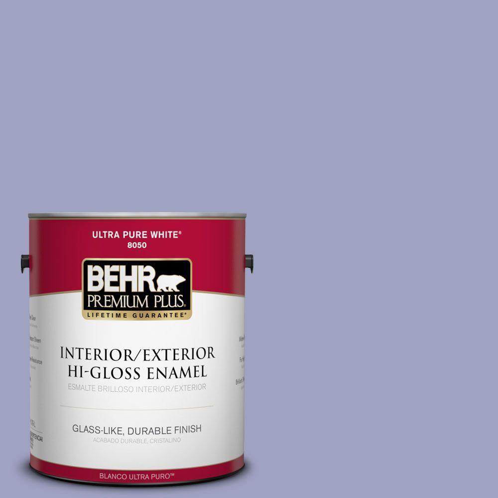 1-gal. #630D-4 Ruffled Iris Hi-Gloss Enamel Interior/Exterior Paint