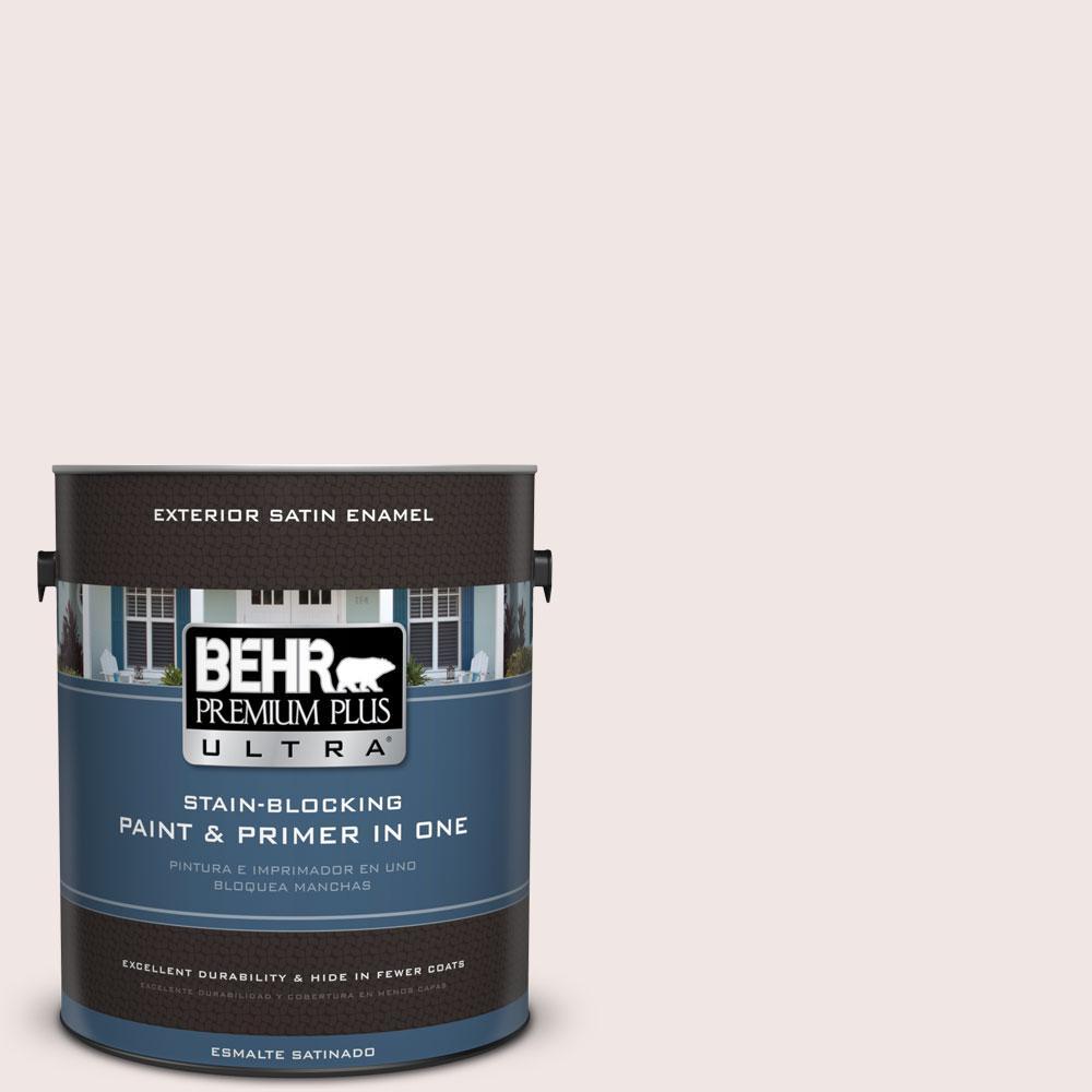 BEHR Premium Plus Ultra 1-gal. #PPL-43 Primrose Bouquet Satin Enamel Exterior Paint
