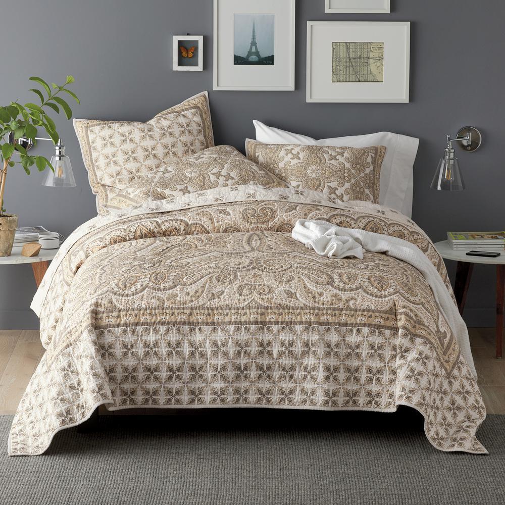 Collier Floral Cotton Textured Quilt