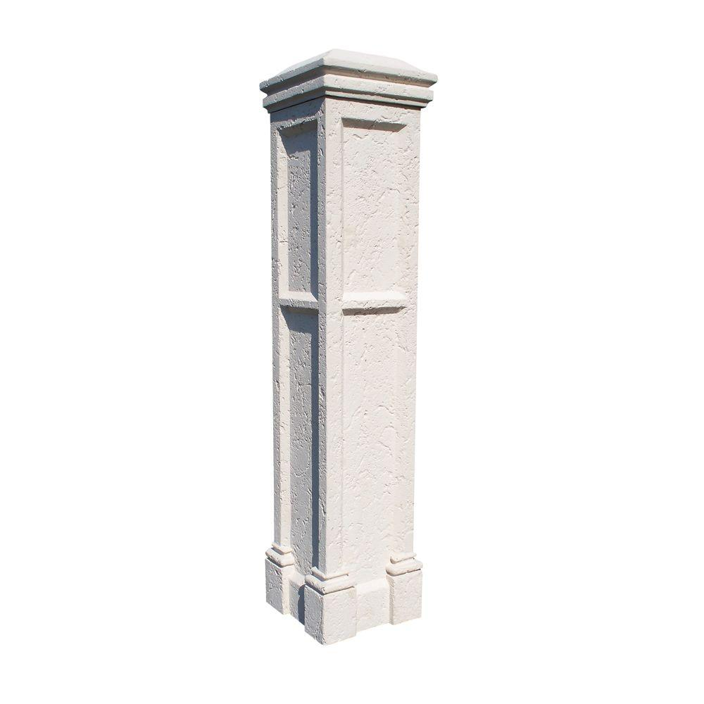 Eye Level Limestone Column, Includes Limestone 21 In. Curved Cap 53 In. x 21 In. x 21 In.--SOLD OUT FOR THE SEASON-DISCONTINUED