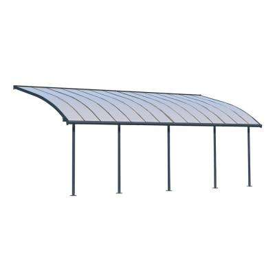 Joya 10 ft. x 28 ft. Grey Patio Cover Awning