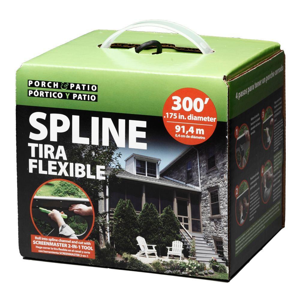 .175 in. x 3600 in. Box Spline Porch and Patio System