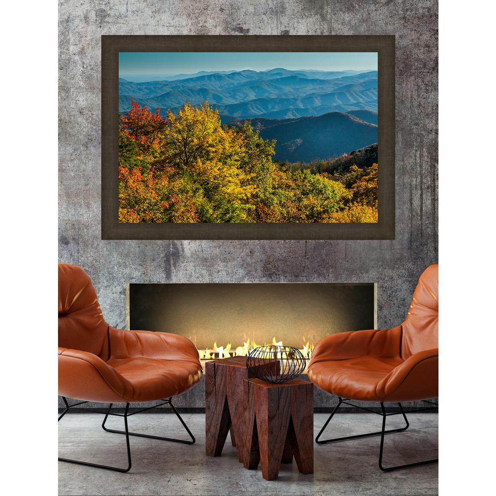 35.5 in. x 50.5 in. 'Appalachian Waves' by Jason Clemmons Fine Art Canvas Framed Print Wall Art