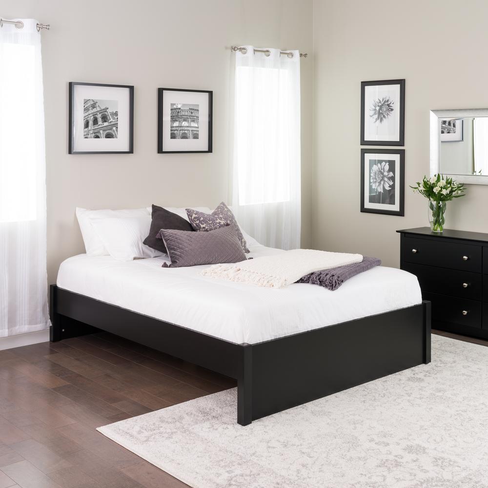 Prepac Select Black Queen 4 Post Platform Bed Bbsq 1302 2k The Home Depot