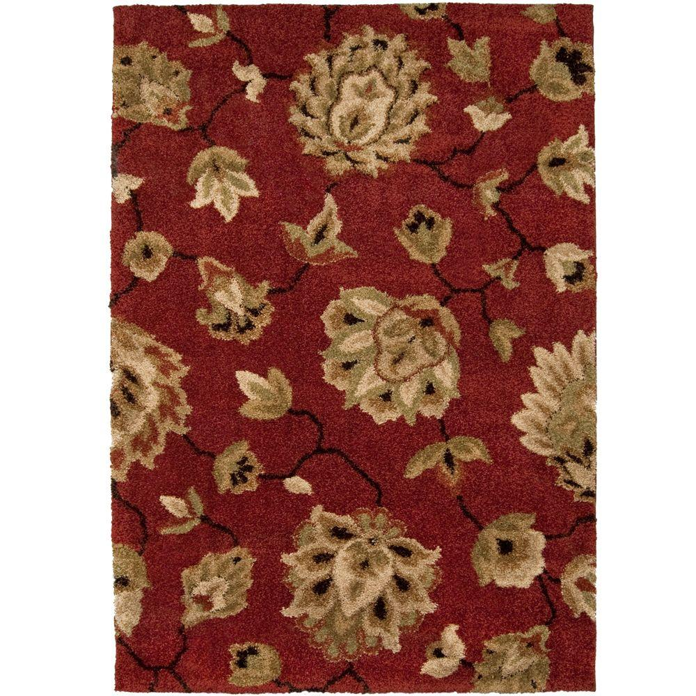 Orian Rugs Como Rouge 6 ft. 7 in. x 9 ft. 8 in. Area Rug