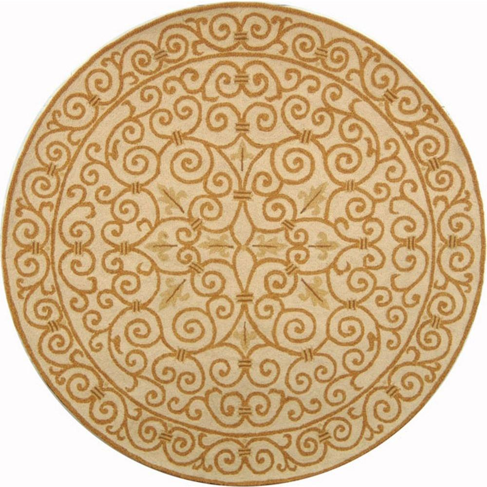 Safavieh Chelsea Ivory Gold 3 Ft X Round Area Rug