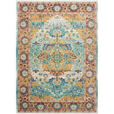 Delmar Multicolor 9 ft. 10 in. x 13 ft. 2 in. Area Rug