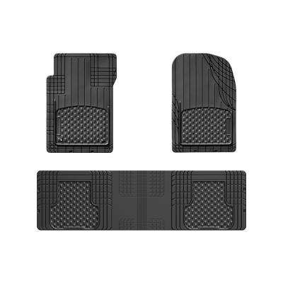 Black 56 in. x 16 in. Over The Hump Rubber Car Mat