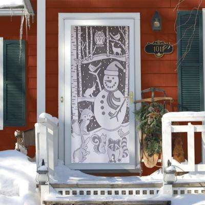 Snowman 76 in. L Polyester Valance in White