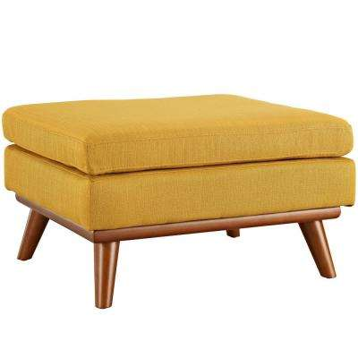 Citrus Engage Upholstered Fabric Ottoman