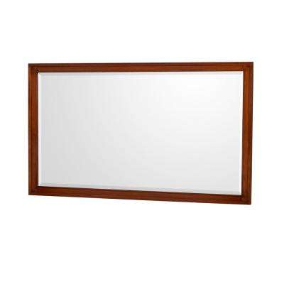 Hatton 56 in. W x 33 in. H Framed Wall Mirror in Light Chestnut