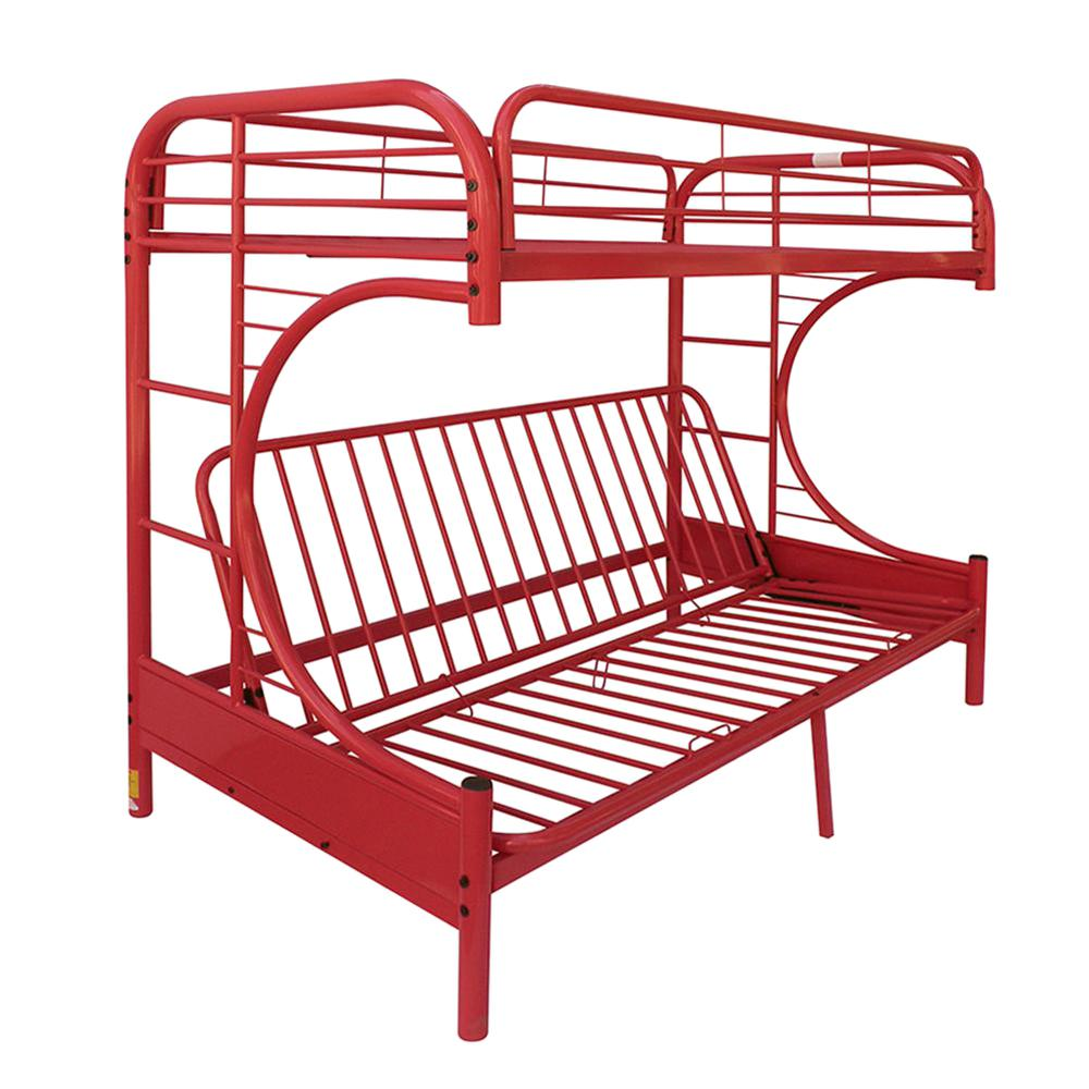 Acme Furniture Eclipse Twin Over Red Full Metal Kids Bunk Bed 02091rd The Home Depot