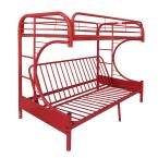 Eclipse Twin Over Red Full Metal Kids Bunk Bed