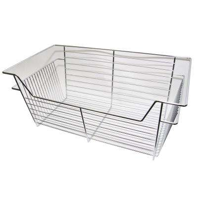 11 in. H x 23 in W Chrome Pull-Out Basket