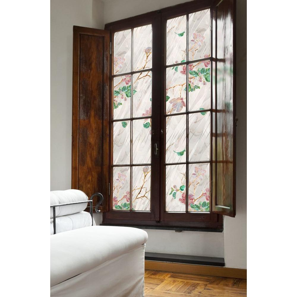 Artscape 24 in. x 36 in. Wild Rose Window Film-01-0145 - The Home Depot