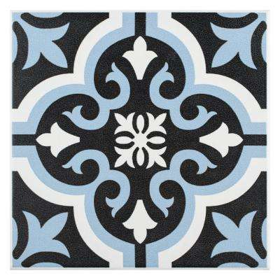 Braga Blue Encaustic 7-3/4 in. x 7-3/4 in. Ceramic Floor and Wall Tile (10.76 sq. ft. / case)