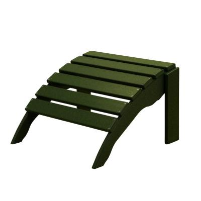 Icon Forest Green Plastic Outdoor Ottoman