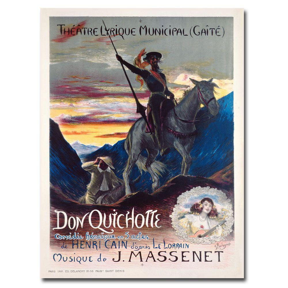 24 in. x 32 in. Don Quichotte 1910 Canvas Art