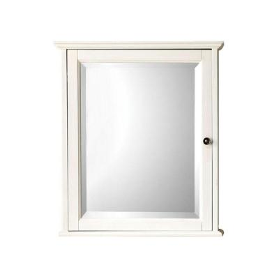 Hamilton 23-3/4 in. W x 27 in. H x 8 in. D Framed Surface-Mount Bathroom Medicine Cabinet in Ivory