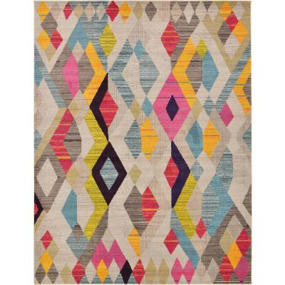Unique Loom Modern Abstract Geometric Sedona Contemporary Area Rug 2379697