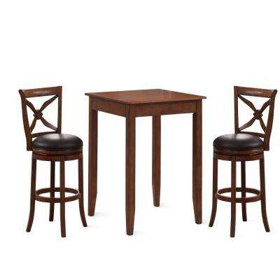 Provence 3 Piece Brown Cherry 42 in. H Pub Set