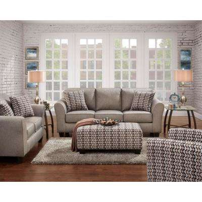 Haverhill 3 Piece Gray Living Room Set: Sofa, Loveseat And Accent Chair