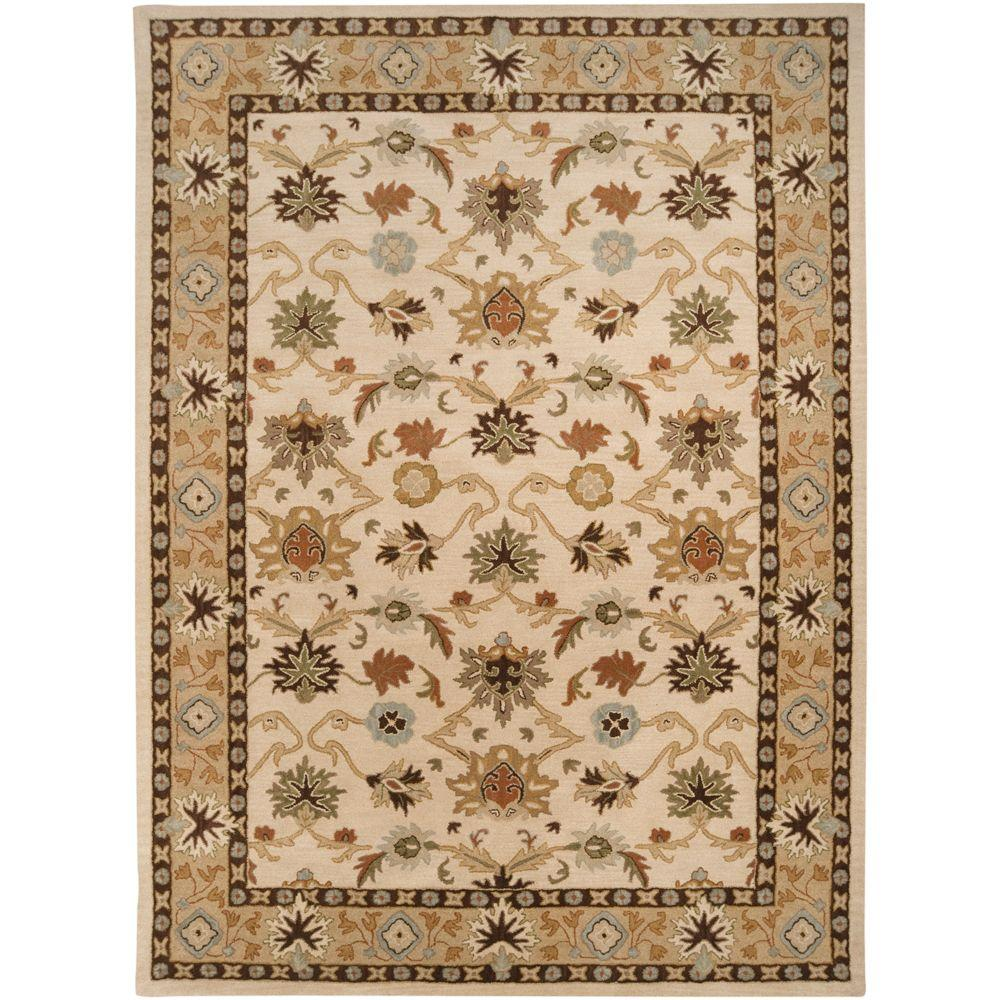 John Beige 8 ft. x 11 ft. Area Rug