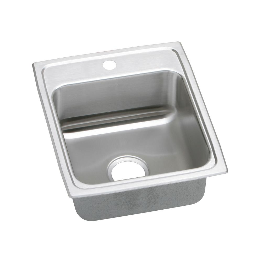 Exceptional Elkay Lustertone Drop In Stainless Steel 17 In. 1 Hole Single Bowl Kitchen