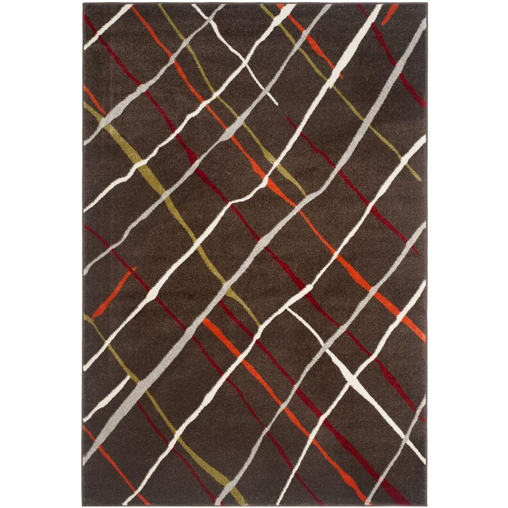 Safavieh Porcello Brown/Multi 4 ft. x 5 ft. 7 in. Area Rug