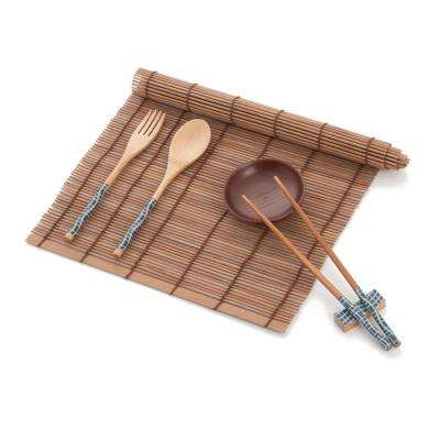 7-Piece Asian Bamboo Chopsticks Dinner Set