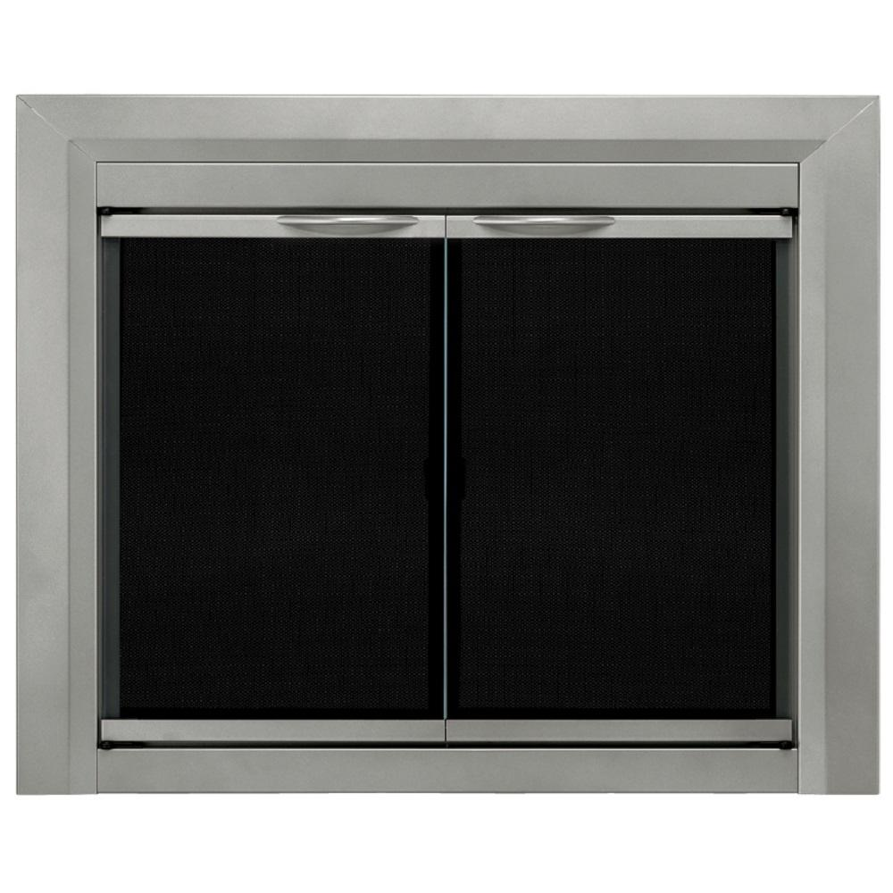 Pleasant Hearth Colby Small Glass Fireplace Doors Cb 3300 The Home