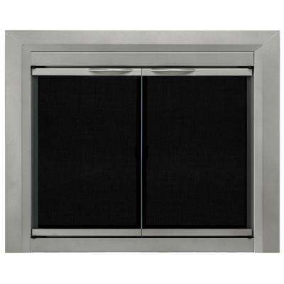 Colby Small Glass Fireplace Doors
