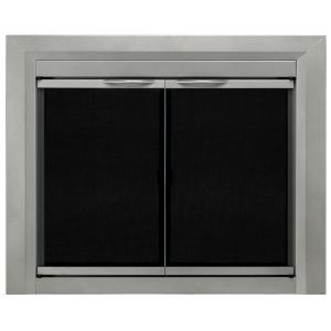 Pleasant Hearth Colby Large Glass Fireplace Doors Cb 3302
