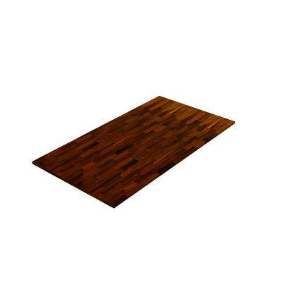 8 ft. L x 3 ft. 4 in. W x 1 in. T Butcher Block Countertop in Oiled Acacia with Espresso Wood Oil Stain