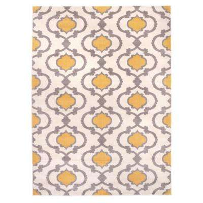 Moroccan Trellis Contemporary Cream 7 ft. 10 in. x 10 ft. 2 in. Area Rug
