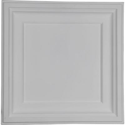 Traditional 2 ft. x 2 ft. Glue Up or Nail Up Polyurethane Ceiling Tile in White