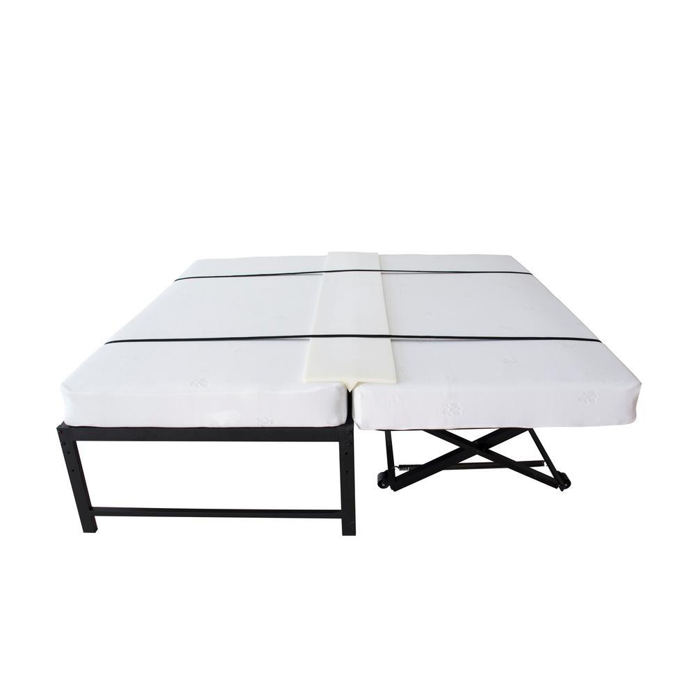Kings Brand Furniture Twin To King Converter Foam Mattress Bridge Bed 57cm The Home Depot