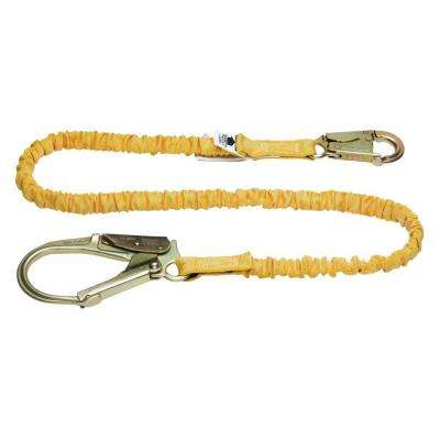Upgear 6 ft. SoftCoil Single Leg Lanyard (Energy Absorbing Inner Core, Snaphook, Rebar Hook)