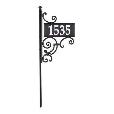 Nite Bright Ironwork Rectangle Reflective Address Post Sign