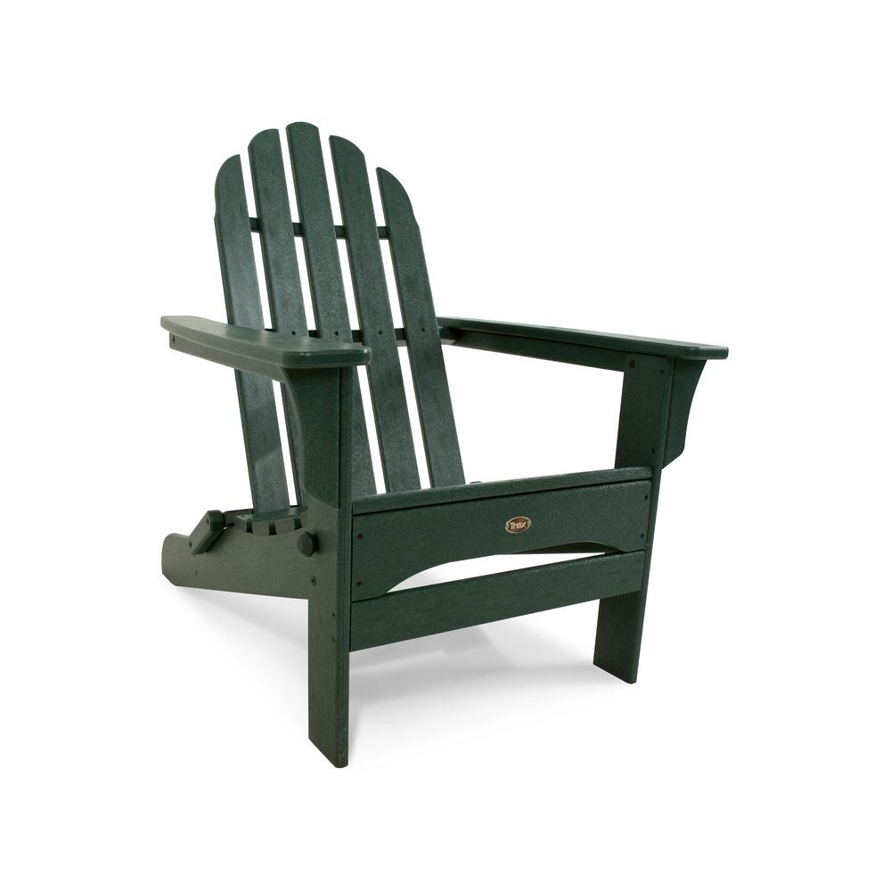 Ordinaire Trex Outdoor Furniture Cape Cod Rainforest Canopy Folding Plastic  Adirondack Chair