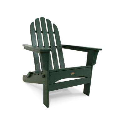 Cape Cod Rainforest Canopy Folding Plastic Adirondack Chair