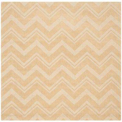 Impressions Dark Gold 6 ft. x 6 ft. Square Area Rug