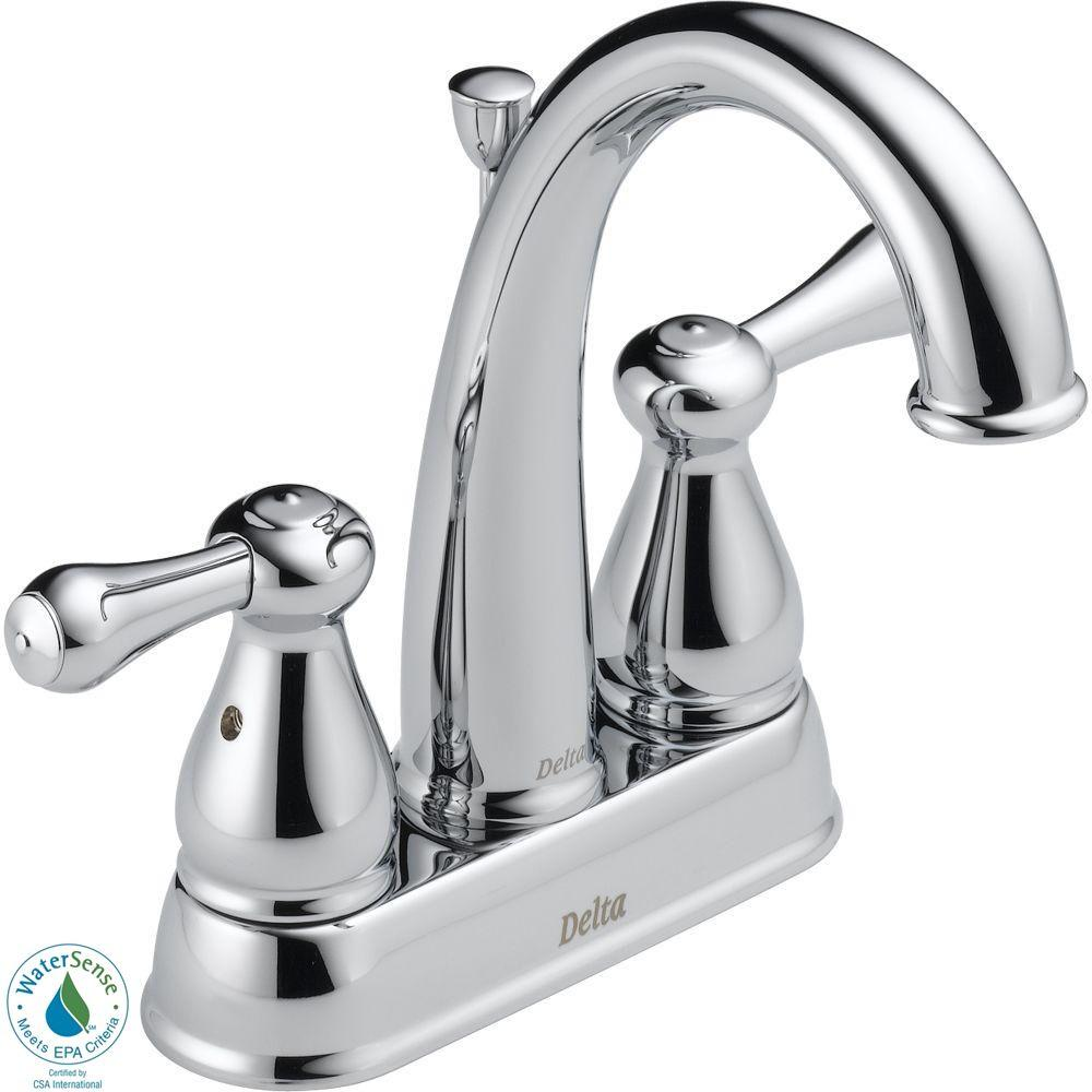 null Leland 4 in. 2-Handle High-Arc Bathroom Faucet in Chrome-DISCONTINUED
