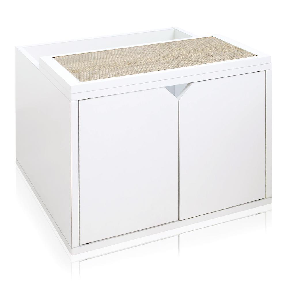 Eco Zboard White Modern Cat Litter Box Enclosure