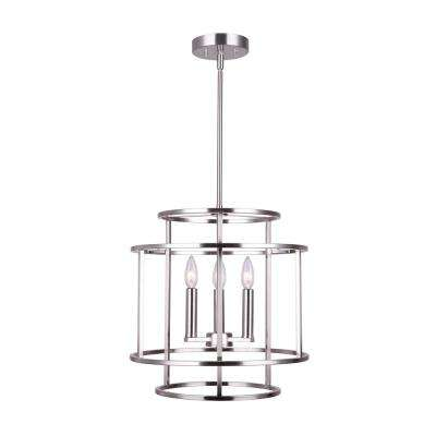 Luca 3-Light Brushed Nickel Chandelier