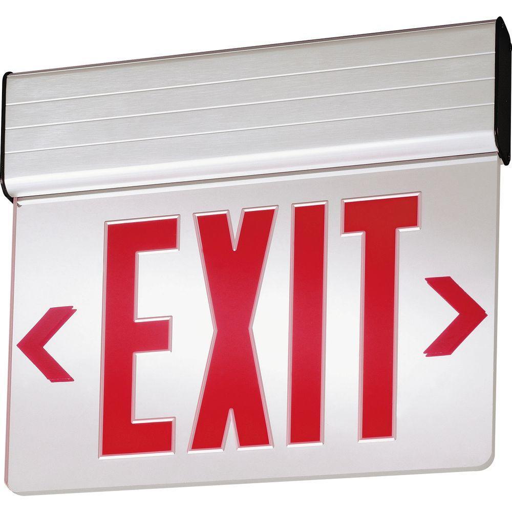 Lithonia Lighting Aluminum LED Emergency Exit Sign-EDG 1 R