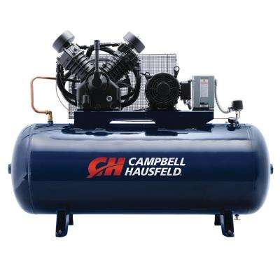 120 gal. Horizontal 36CFM 10HP 3PH Two Stage Stationary Electric Air Compressor