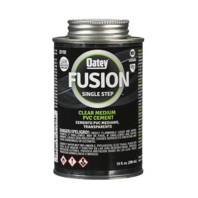 Fusion One-Step 10 oz. Clear PVC Pipe Cement