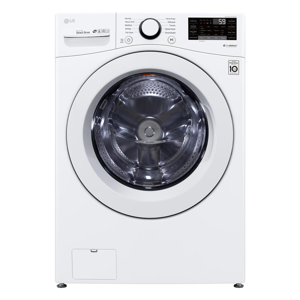 LG Electronics 4.5 cu. ft. White Front Load Washing Machine with Round Door